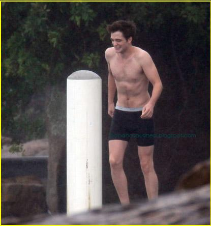 Robert Pattinson Underwear on Robert Pattinson With Underwear In Beach